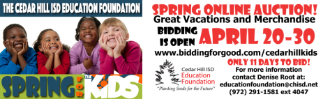 Spring online auction chisd Cedar Hill Texas